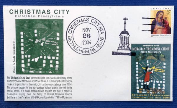 Christmas City seal for Bethlehem.