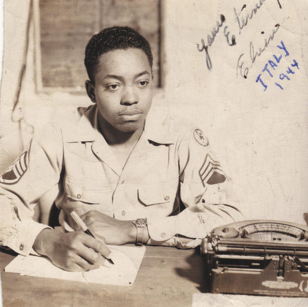 Elvin E. Thomas, a member of the 332nd Fighter Squadron and part of the famed Tuskegee Airmen, is shown in this photo from 1944 while stationed in Italy. The Bunker Hill, W.Va., resident died Monday at the age of 93.