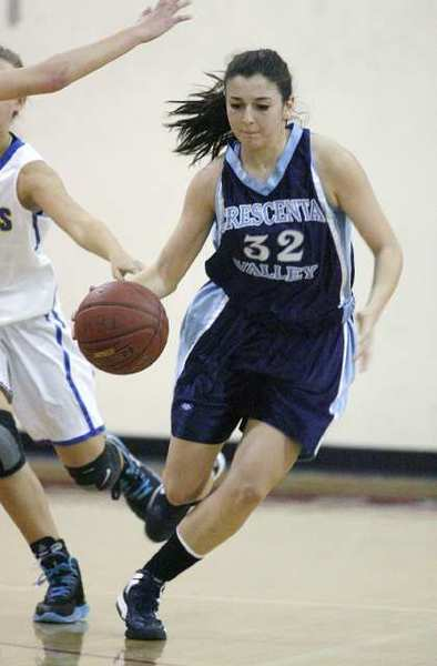 Emily Beglarian contributed six rebounds in the Crescenta Valley Falcons' 44-25 loss to Agoura.