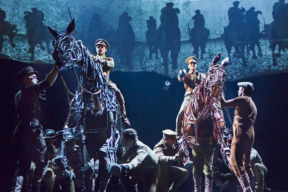 "In ""War Horse,"" Grayson DeJesus on Topthorn and Michael Wyatt Cox on Joey."