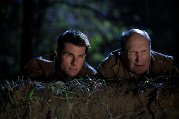 "Tom Cruise, left, is Jack Reacher and Robert Duvall is Cash in ""Jack Reacher."""