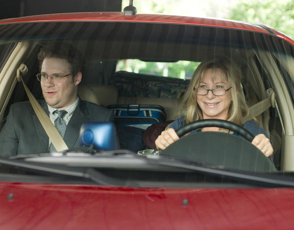 "Barbra Streisand, right, stars as Joyce Brewster and Seth Rogen as Andrew Brewster in ""The Guilt Trip."""