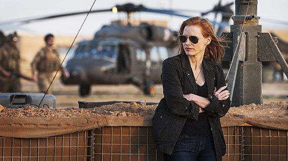 "Jessica Chastain plays a member of the elite team of spies and military operatives who devote themselves to finding Osama Bin Laden in ""Zero Dark Thirty."" Sens. Dianne Feinstein, John McCain and Carl Levin said they found aspects of the movie to be misleading."