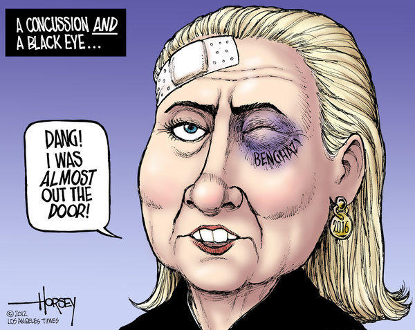 Hillary Clinton gets a black eye from Benghazi