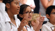 Parents and grandparents of students at Desert Garden Elementary School were treated to a feast for the ears and eyes at the school's annual Christmas program.