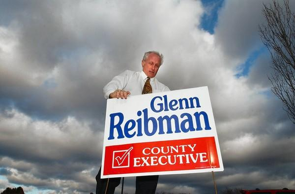 Glenn Reibman won re-election as Northampton County executive in 2001. Out of office since 2005, he is considering another run for that position.