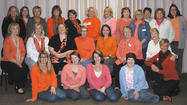 "At the November meeting of the Soroptimist of Hagerstown, members wore orange in support of the United Nation's ""International Day to Eliminate Violence against Women"" and to raise awareness about domestic violence."