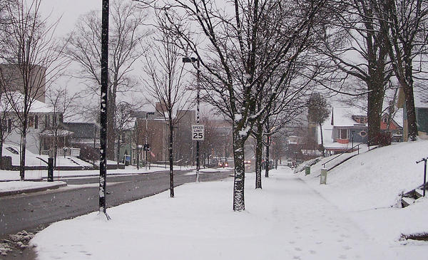 With the storm coming in, East Mitchell Street and downtown Petoskey was blanketed early on Thursday morning.