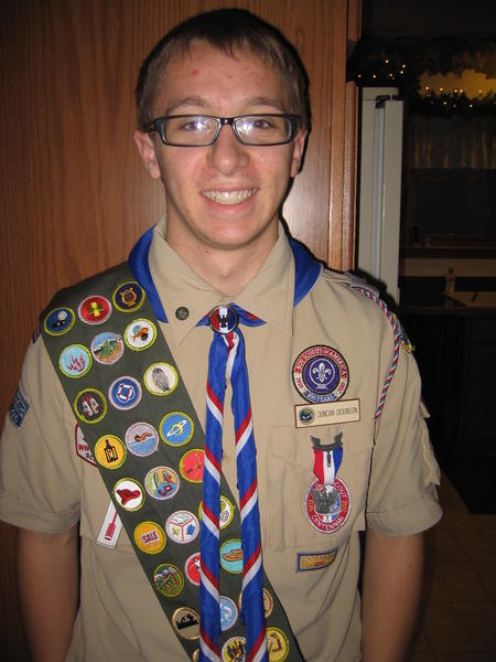 Boy Scout Duncan Dickinson was recently awarded the rank of Eagle Scout.