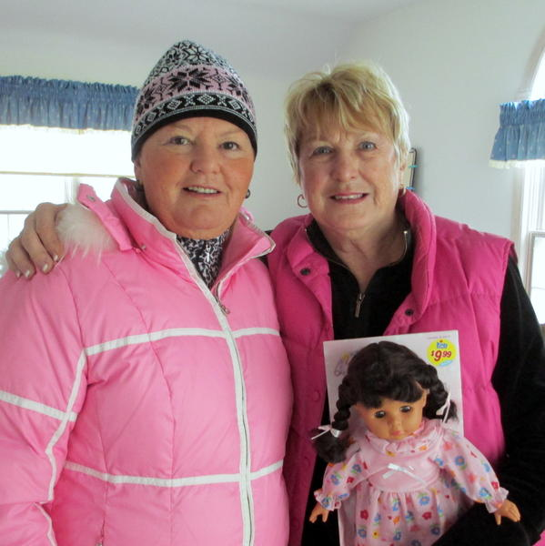 Harbor Springs residents Fran Shepard (left) and Christmas shopping project chairwoman Monica Crawford are two of the 63 Christ Child Society members who put their shopping skills to the test to provide toys for 202 local children.