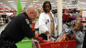 Police treat children to shopping sprees