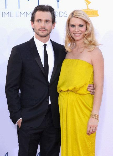 Hugh Dancy and Claire Danes arrive at the 64th Annual Primetime Emmy Awards at Nokia Theater on September 23, 2012 in Los Angeles, California.