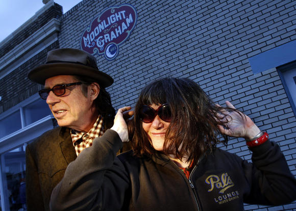 John Doe and Exene Cervenka of punk band X
