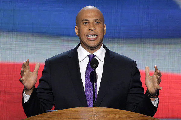 Newark, N.J., Mayor Cory Booker said he would explore a 2014 Senate run.