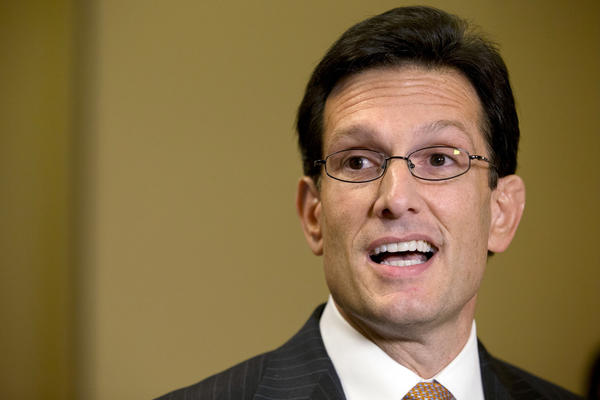 "House Majority Leader Rep. Eric Cantor (R-Va.) speaks to the media about the ""fiscal cliff"" and ""Plan B "" at the Capitol."
