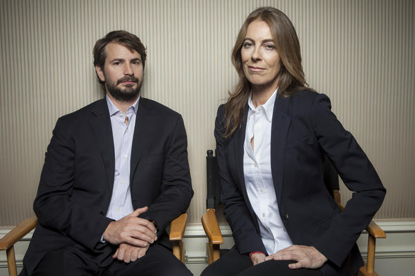 "Mark Boal, left, screenwriter and co-producer of the film ""Zero Dark Thirty, "" and the film's director and co-producer Kathryn Bigelow."