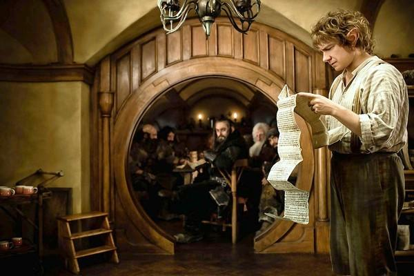 "Martin Freeman as Bilbo Baggins in New Line Cinema's and MGM's fantasy adventure ""The Hobbit."""