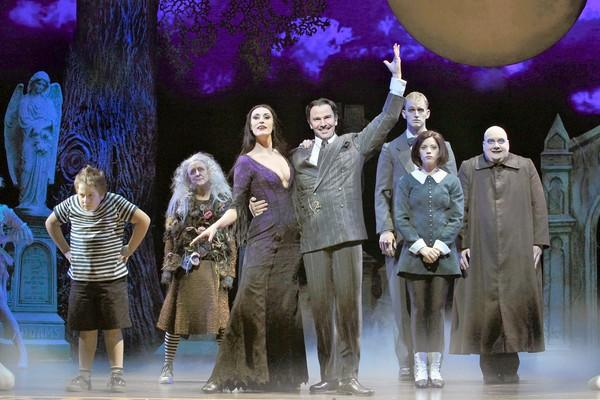 "The cast of ""The Addams Family"" at Segerstrom Center for the Arts."
