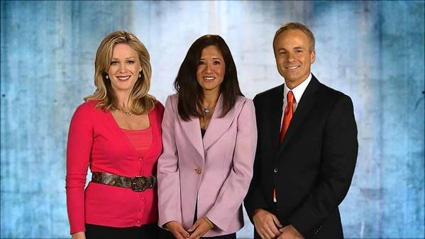 Wendy Chioji, center, hosts 'Surviving & Thriving' with WKMG anchors Lauren Rowe, left, and Gaard Swanson, right.