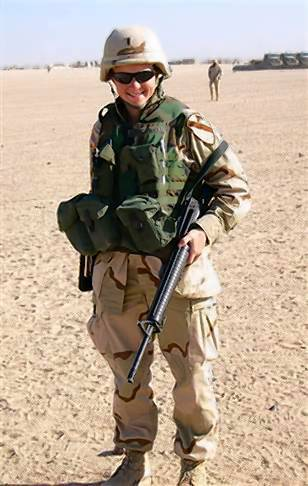 "Melissa Stockwell in Iraq in 2004, before she was wounded by a roadside bomb blast that left her with an above the knee amputation on her left leg. ""I remember knowing it would be OK,"" she said of her injury. ""I know that sounds weird, but I knew it would be."""