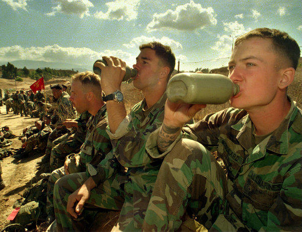 Water is safe for them, but under a new order aimed at combating alcohol abuse, Marines will undergo Breathalyzer tests twice a year.