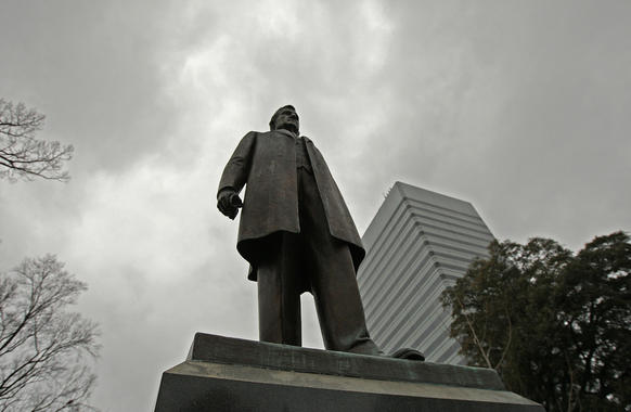 South Carolina had 4.76 gun killings per 100,000 residents in 2011. Its Brady rating is 8, making it tied for 22nd in the country, or roughly average when it comes to gun control laws.<br><br>  Above: A statue of legendary governor and senator Ben Tillman outside the South Carolina State House.