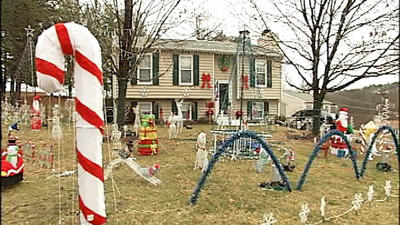 Holiday decorations could blow away