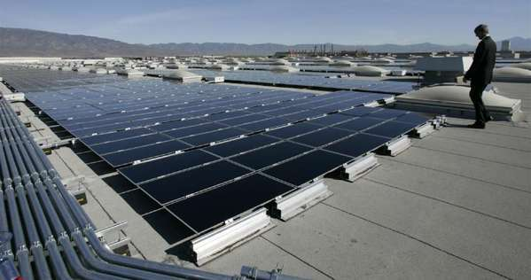 Solar power projects, such as this one on a Fontana rooftop, are growing in number and scope; the Department of Interior on Thursday released an environmental impact statement on a proposed 750-megawatt plant in Riverside County.
