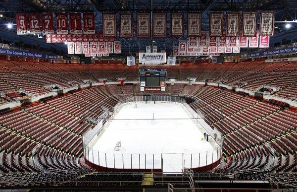 The ice in Detroit will remain empty at least through the middle of January.