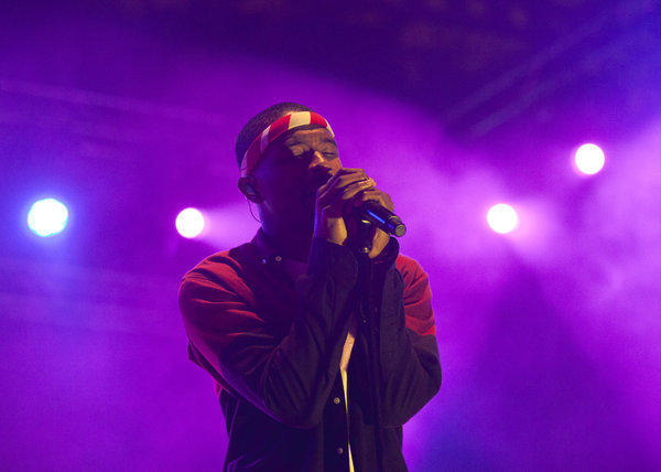 Frank Ocean plays at Lollapalooza.