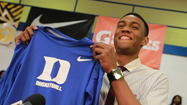 Simeon senior Jabari Parker announces Thursday that he will play for Duke.