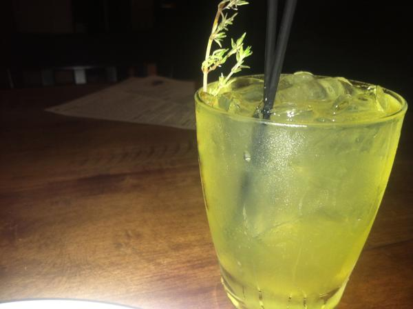 Oak Tavern lemon-thyme-infused Tito's Handmade Vodka lemonade