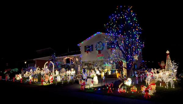 The home of Jerry and Deb McNelis at 1963 Kensington Road in Bethlehem that is on Bill Whites Christmas light tour.
