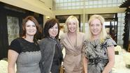 Vanessa Silivan, Deborah Gunn Downing, Dana Agamalian and Anne Crawford support Working Wardrobes at Valentino event at South Coast Plaza.