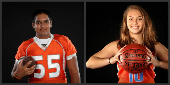 Mount Dora's Sagar Patel and Boone's Bailey Florin are among this week's school stars. (Joshua C. Cruey, Orlando Sentinel)
