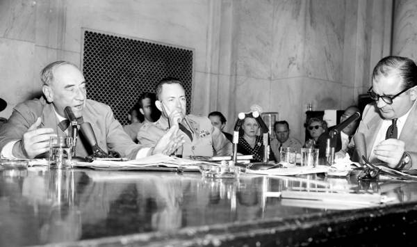 Army counsel Joseph Welch (left) addresses Sen. Joseph McCarthy at a 1954 hearing. This confrontation helped end the scourge of McCarthyism.