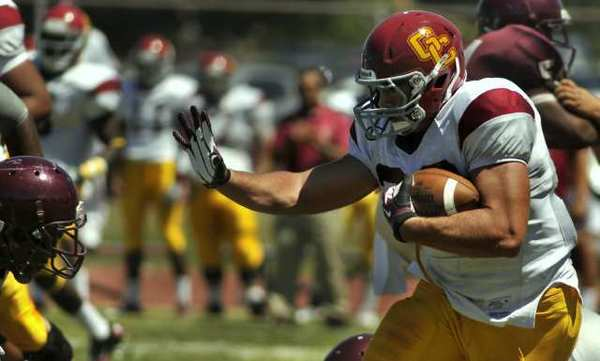 ARCHIVE PHOTO: Former BYU Cougar Collin Keoshian rushed for 1,265 yards in 236 carries for Glendale Community College this season.