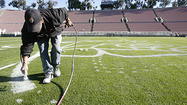 Photo Gallery: Rose Bowl preparations underway