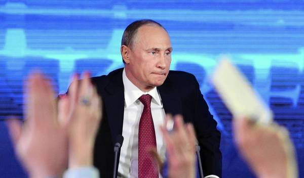 "Russian President Vladimir Putin, at a news conference in Moscow, says Russia can't support Syrian Presidant Bashar Assad ""at any price."""