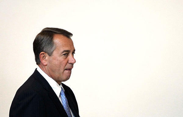 House Speaker John Boehner and his lieutenants called off a vote on a fiscal cliff tax proposal because of resistance from the Republicans' right flank.