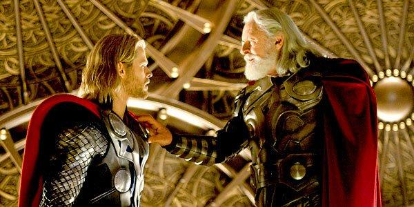 "Many special effects for the 2011 movie ""Thor"" were done in Vancouver, Canada. Chris Hemsworth, left, who starred in the film, portrays Thor and Anthony Hopkins portrays Odin."