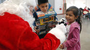 Veterans' children meet Santa