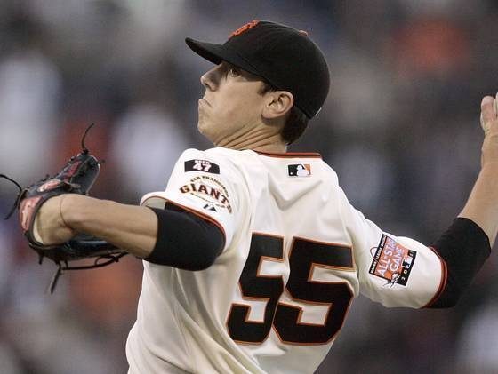 The last time Tim Lincecum had short hair was in his rookie season with the Giants in 2007.