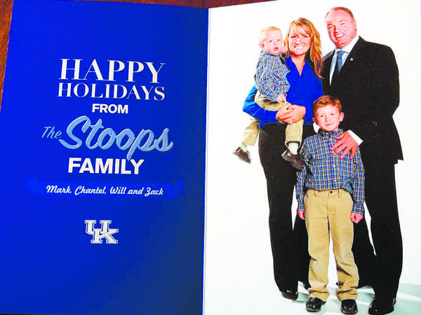 Kentucky coach Mark Stoops sent this Christmas card to a season-ticket holder, an indication that he is trying to connect with the Wildcats' fan base.