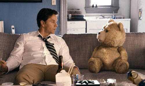 "Naturally, the foul-mouthed teddy bear attracts most of the attention in ""Ted,"" but Wahlberg's performance reiterates the actor's impeccable comic instincts (which probably aren't easy to maintain when acting opposite a CGI creation voiced by Seth MacFarlane)."