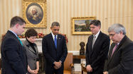 Obama, lawmakers mark end of mournful week