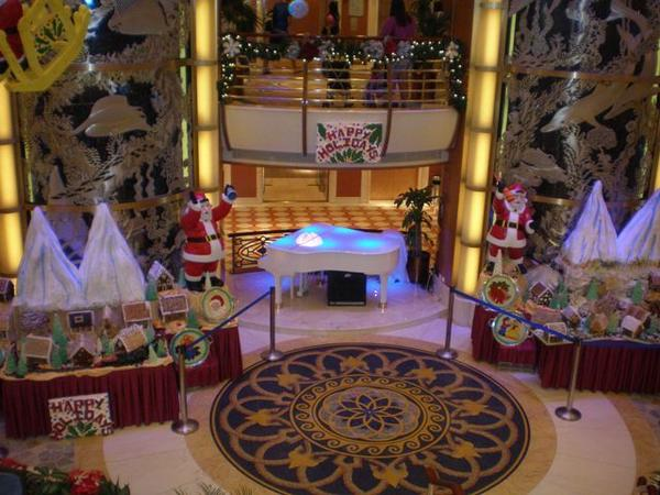 A holiday village aboard a Princess Cruises ship.
