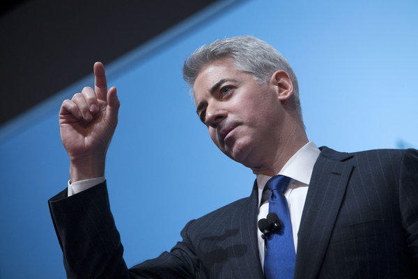 Bill Ackman, founder of Pershing Square Capital Management, discusses Herbalife in a presentation in New York on Thursday.