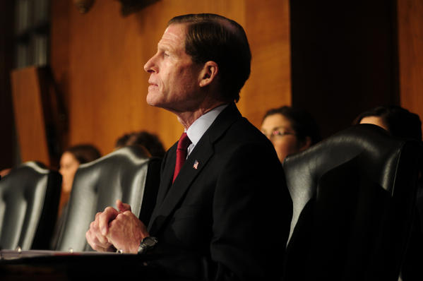 "The former Connecticut Attorney General is in his first term as a U.S. senator.  <iframe src=""http://www.courant.com/hc-pols-twitter-blumenthal,0,5036080.blurb"" frameborder=0 scrolling=no width=600 height=400></iframe>"