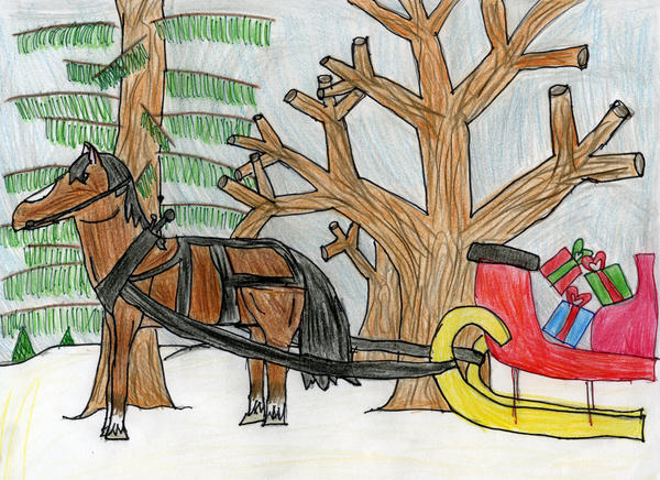 Riley Livengood, 10, a fifth grader at Audubon Park Elementary School, is an Honorable Mention winner in the Fourth & Fifth Grades category of the 2012 Orlando Sentinel Holiday Art Contest.